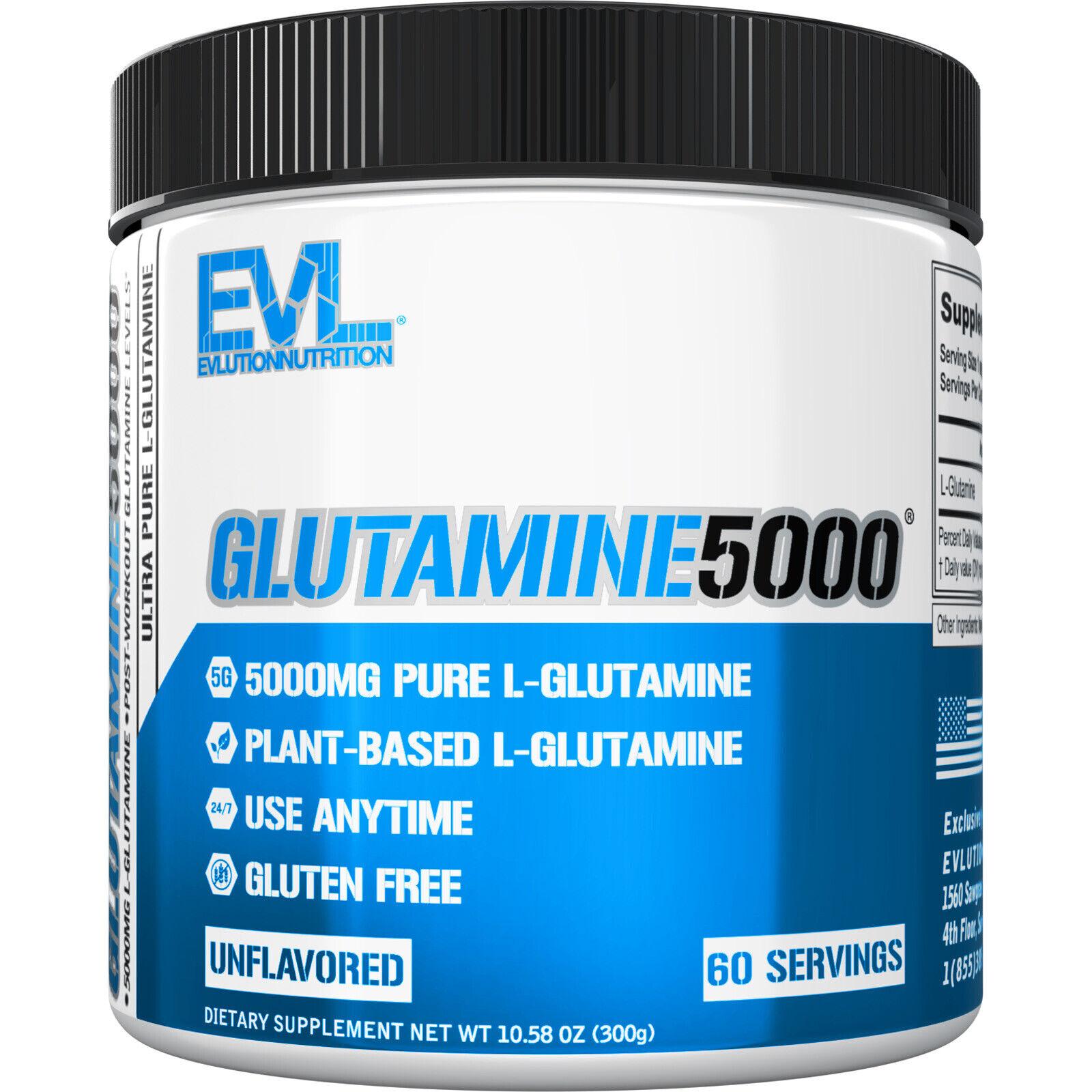 Evlution Nutrition L Glutamine 5000 Post Workout Immune Supp