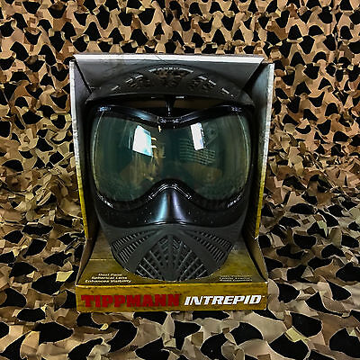 NEW Tippmann Intrepid Thermal Paintball Mask Goggle - Black/Grey (Grey Thermal Paintball)