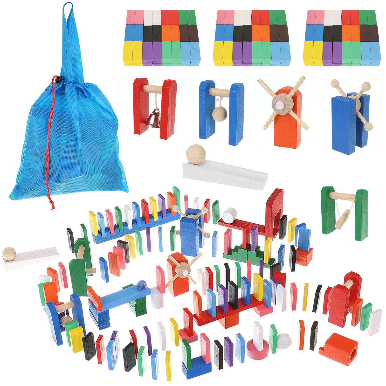 Domino Set Holz Dominosteine für Kinder Hindernisse 360-tlg 9357