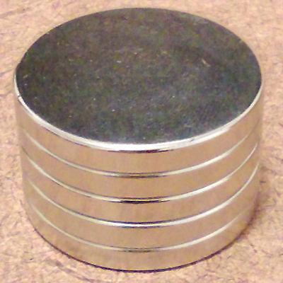 5 N52 Neodymium Cylindrical 1 X 18 Inch Cylinderdisc Magnets.