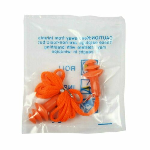 25  Pairs - Silicone Corded Ear Plugs Anti Noise Hearing Protection Orange