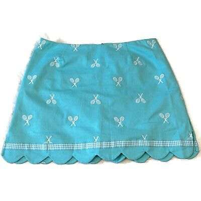 Lilly Pulitzer Tennis Skort Skirt Size 10 Blue Blue Tennis Skirt