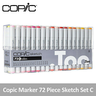 Copic Marker 72 Piece Sketch Set C (Twin Tipped) - Artist Markers Anime Comic