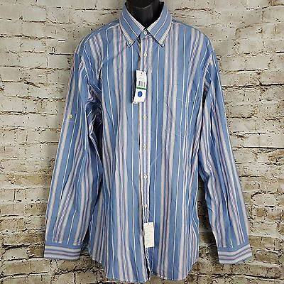 Tommy Hilfiger Mens Long Sleeve Button-Down Shirt Size LT Martinique Blue NWT image