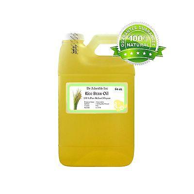 64 Oz Premium Rice Bran Oil Pure Organic Cold Pressed Best Fresh Multi
