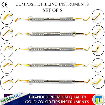 Golden Titanium Coated Composite Plastic Filling Instruments Burnishers Pluggers