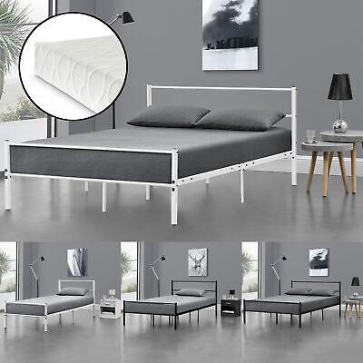 en.casa Metallbett 90 120 140x200 Matratze Bett Schlafzimmer Doppelbett Ehebett