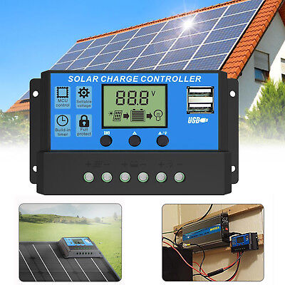 PWM 30A Dual USB Solar Panel Battery Regulator Charge Controller 12V (Panel Controller)