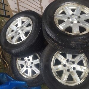 2008 Jeep Grand Cherokee overland rims and tires