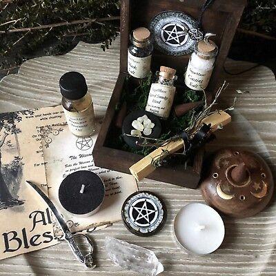 Witch Altar Box Ritual Kit Wicca Pagan Goddess Handmade Supplies © SugarMuses