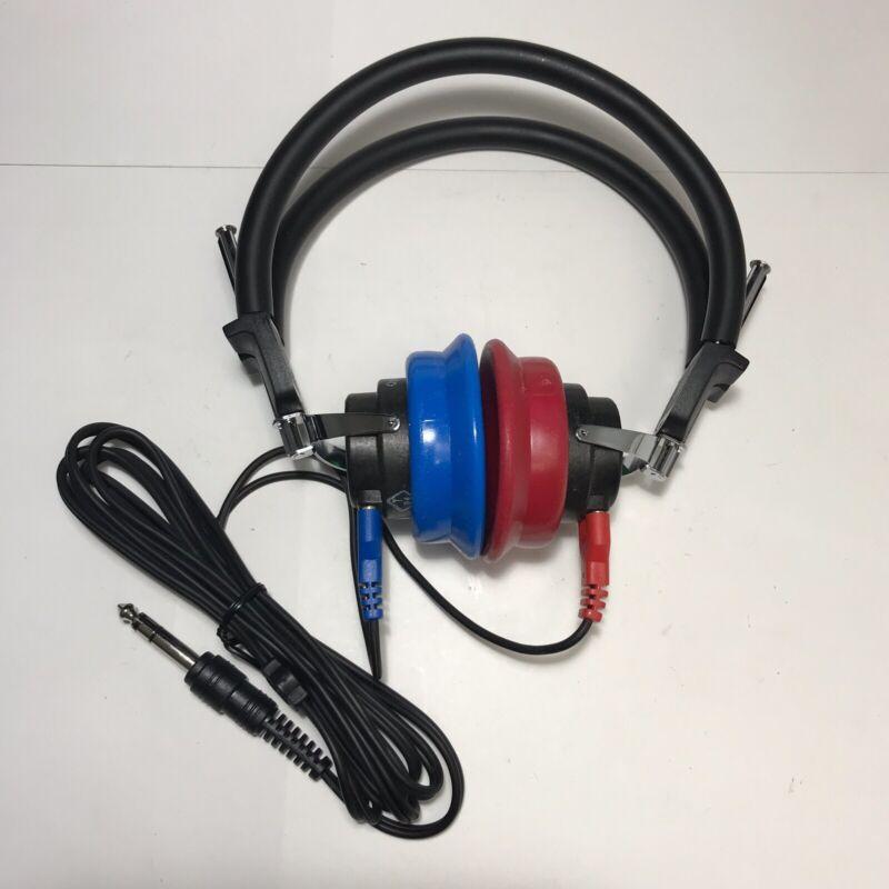 New Telephonics TDH-50P Audiometric Headphones Audiometer Headset #12, No Box