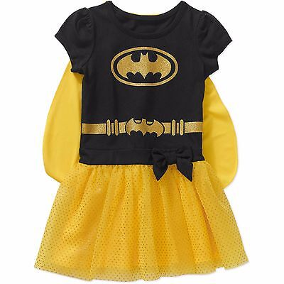 Batgirl Tutu Dress (DC Comics Batgirl Short Sleeve Caped Tutu Tunic Dress Girl Size)