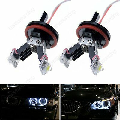 CANBUS LED BMW E60 E82 E87 E90 E92 H8 6W ANGEL EYES MARKER HALO HEAD LIGHT BULBS for sale  Shipping to Ireland