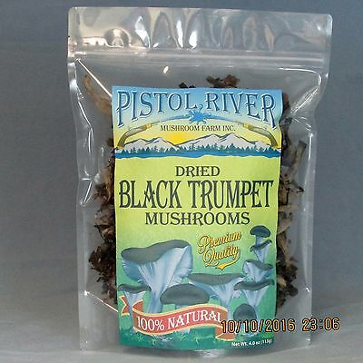 Trumpet Mushrooms - Black Trumpet Mushrooms-Dried First Quality 4oz FREE SHIPPING