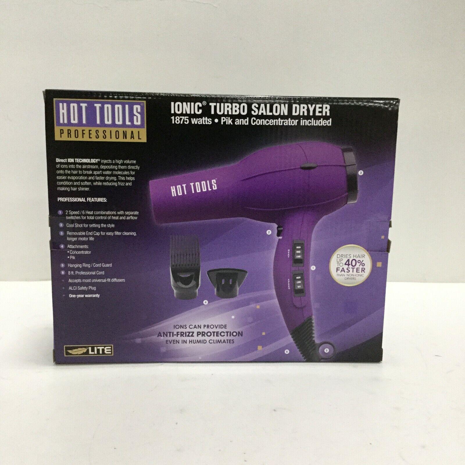 HOT TOOLS Ionic Turbo Salon Dryer 1875 Watts, Purple