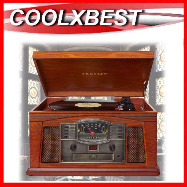 NEW CROSLEY LANCASTER TURNTABLE CD CASSETTE RADIO MUSIC CENTRE ART DECO  DESIGN