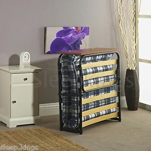 FOLDING SINGLE VISITOR Z GUEST BED WITH MATTRESS + HEADBOARD - FREE DELIVERY