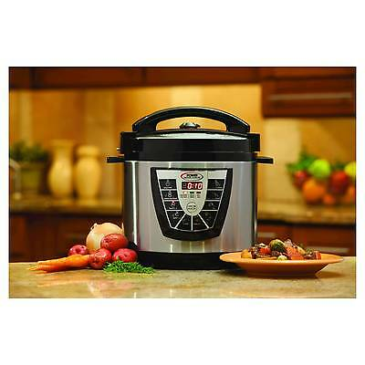 NEW Digital Power Pressure Cooker XL Electric 6 Qt Stainless Steel