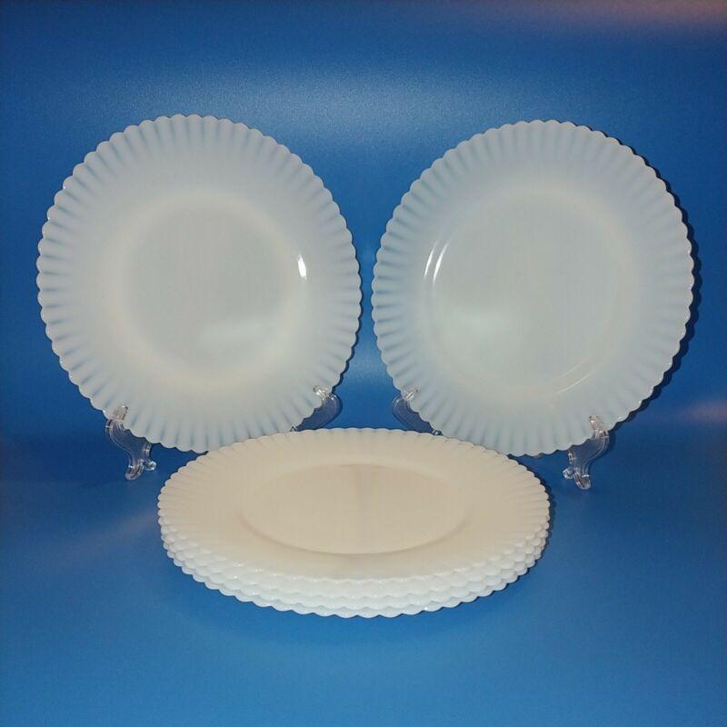 "Macbeth Evans Petalware Monax Rings Base Luncheon/Salad Plates 8"" Set Of 6"