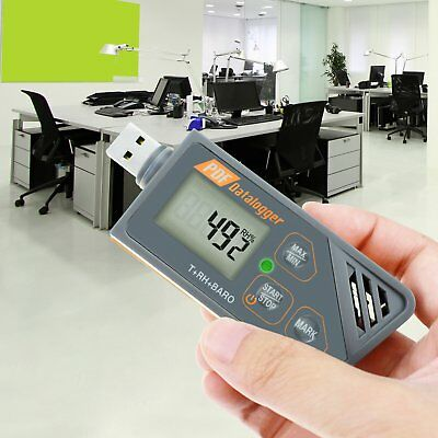 Digital Usb Datalogger Waterproof Humidity Temperature And Barometric Pressure