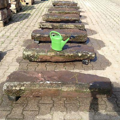 Antike Buntsandstein Treppen Stufen Pfeiler Zaunpfosten Hang Mauer Natursteine