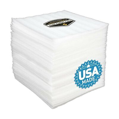 50 Pack Of 18 Thick Mighty Gadget R 12 X 12 Foam Wrap Sheets Safely Wr...