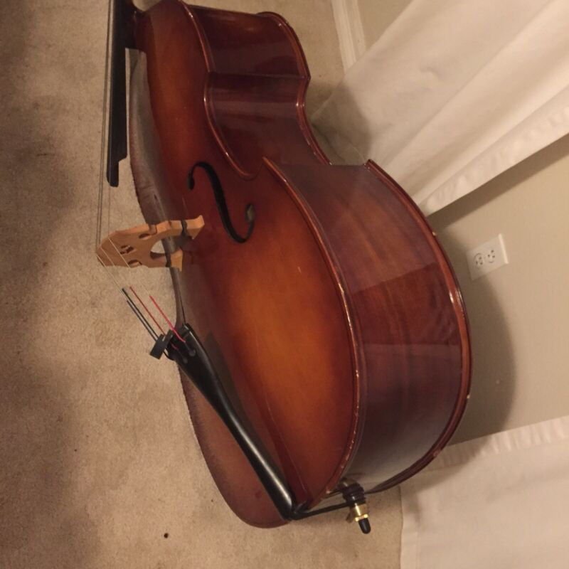 3/4 Size Acoustic Günter Maibach Double Bass With Bow. Estimated=1000$ Dfw Area