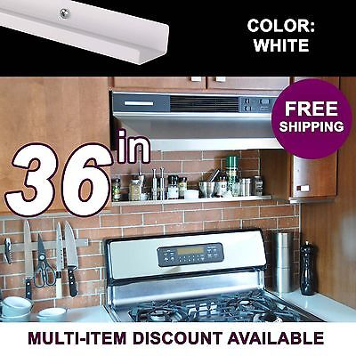 36in ultraLEDGE White Metal Floating Over-the-Range Shelf /