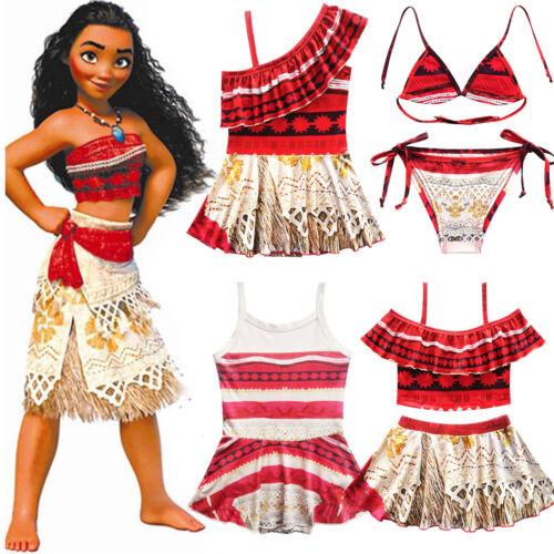kids baby girls moana princess swimwear swimsuit