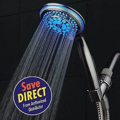 Dreamspa  All Chrome Water Temperature Color Changing 5 Setting Led Hand Shower