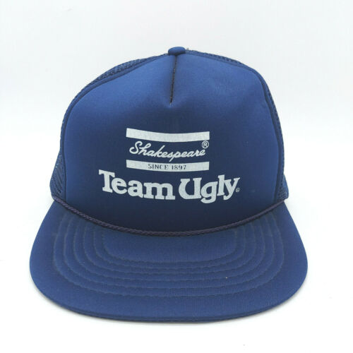 Shakespeare Ugly Stik Team Fishing Mesh Men Adjustable Baseball Hat Blue R.O.C.