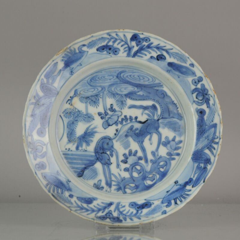 Antique Chinese Domestic Market ca 16th c Porcelain China Plate Flowers ...