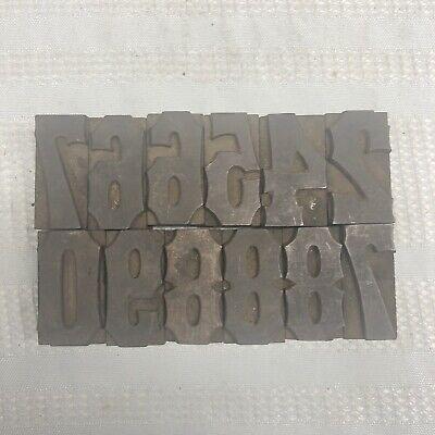 Vintage Antique Letterpress Wood Type Printing Blocks Alphabet Figures Numbers