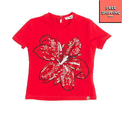 SO TWEE By MISS GRANT T-Shirt Top Size 3Y / 92-98CM Sequins Embellished Flower