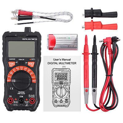 True Rms Acdc Current Volt Digital Multimeter Ncv Auto Range Meter Capacitance