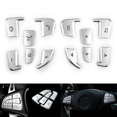 Lenkrad Taste Button Silber Trim Für Mercedes Benz GLE GLS A B GLA CLS Class AH