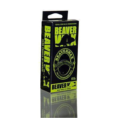 BeaverWax Damfast All Temp Winter Mint Ski Snowboard Iron Rub On Hot Wax 155g