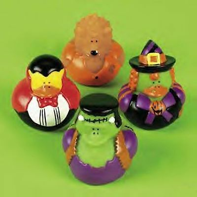 (1) Pk 12 HALLOWEEN ~ RUBBER DUCKS IN COSTUME ~ PARTY DUCKY FAVORS Duckies ()