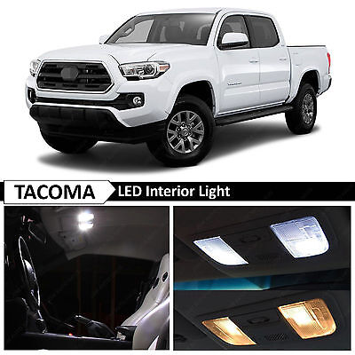12x 2016-2017 Toyota Tacoma White Interior LED Lights Package Truck Kit + TOOL