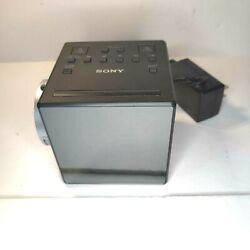 Sony ICF-C1PJ AM/FM Dual Alarm Clock Radio Nature Sound Time Projection ICF-C1PJ