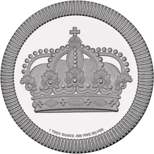 Crown Stackables 1oz .999 Silver Medallion by SilverTowne