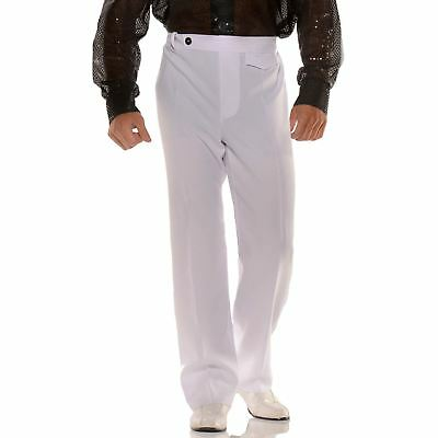 Mens White Disco Pants (Mens Disco Pants 70s Halloween)