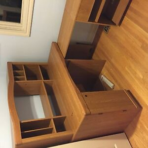 Large desk with pull out compartment
