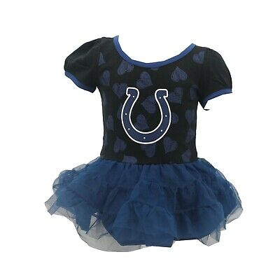 Indianapolis Colts Official NFL Apparel Baby Infant Size Dress with Skirt New