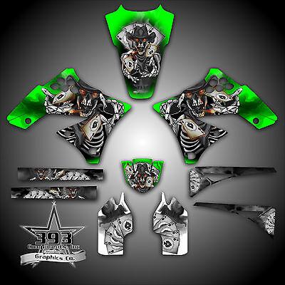 Kawasaki Kx250f 2004 2017 4 Stroke Graphics Sticker Kit Decals Outlaw Skull Kxf