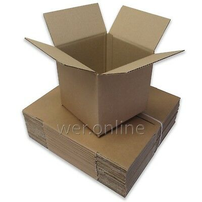 10 x Small Cubed Postal Mail Packaging Storage Cardboard Boxes 8 x 8 x 8