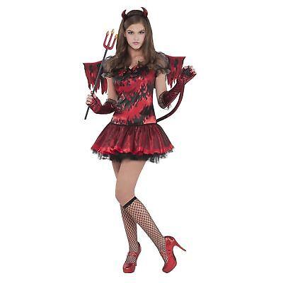 Traum Karneval Kostüm Gr. 146 158 170 Teufel Teufelin Mädchen Fasching Kinder