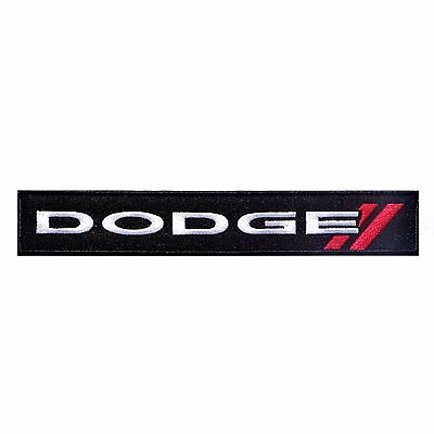DODGE LOGO IRON-ON PATCH Challenger, Charger, Dart, Viper (New track version)