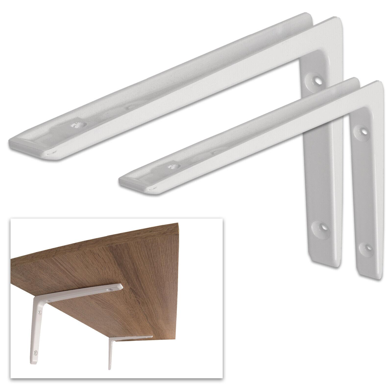 Regalträger Aluminiumkonsole Regalbodenträger Regalwinkel Regalhalter Weiß