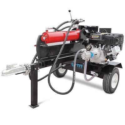 Towable Firewood Splitter, Gas-Powered Hydraulic Woodcutter,
